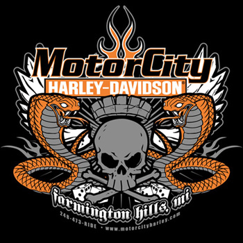 Motor city harley davidson shirt satellite graphics for Motor city harley davidson hours
