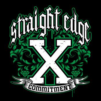 Straight Edge Commitment Shirt Satellite Graphics